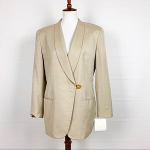NWT 90s Jones NY Silk Blend Oversized Blazer